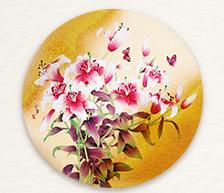 《春意芬芳》颜色釉综合装饰瓷板