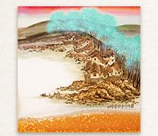 《春晓》颜色釉综合装饰瓷板
