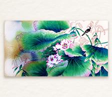 《雾绡红醉》颜色釉综合装饰瓷板