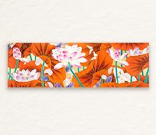 《风荷栖美眷》综合装饰瓷板