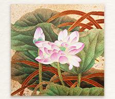 《霓荷系列之一》综合装饰瓷板