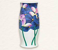 《一曲风荷之四》综合装饰瓷瓶
