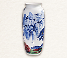 《千载云气》青花釉里红装饰瓷瓶/黄美尧