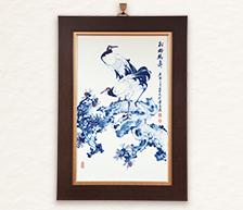 《松龄鹤寿》粉彩装饰瓷瓶