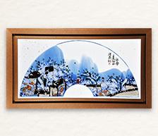 《江南》青花颜色釉综合装饰瓷板