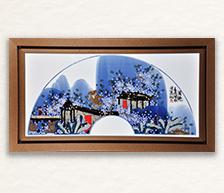 《圆趣》青花颜色釉综合装饰瓷板