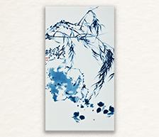 《春风吉祥》青花装饰瓷板