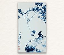 《春意》系列之二青花装饰瓷板