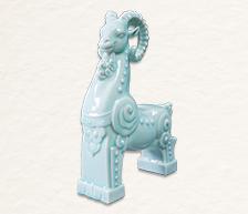 《领头羊》生肖雕塑瓷