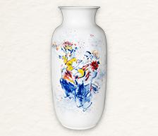 《天韵飞花》青花颜色釉综合装饰瓷瓶