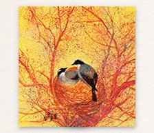 《巢》颜色釉综合装饰瓷板