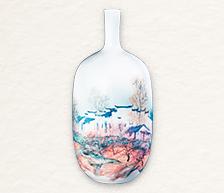 《桃花园》颜色釉综合装饰瓷瓶