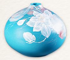 《荷》颜色釉综合装饰瓷瓶