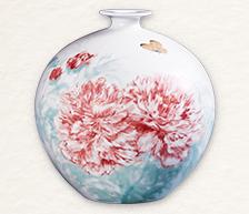 《蝶恋花》颜色釉综合装饰瓷瓶