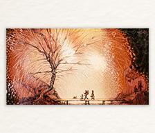 《秋》高温色釉装饰瓷板