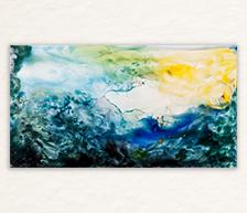 《说山》高温色釉装饰瓷板