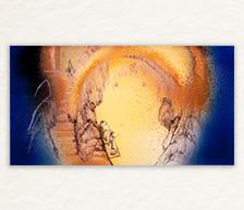 《渔泉》高温色釉装饰瓷板
